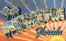 LLT001531 - Greetings From St. Petersburg, Florida USA Large Letter Town Towns Postcard Postcards