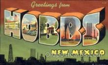 LLT001533 - Greetings From Hobbs, New Mexico, USA Large Letter Town Towns Postcard Postcards