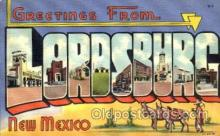 LLT001534 - Greetings From Lordsburg, New Mexico, USA Large Letter Town Towns Postcard Postcards