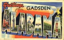 LLT001536 - Greetings From Gadsden, Alabama, USA Large Letter Town Towns Postcard Postcards
