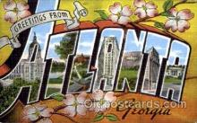 LLT001538 - Greetings From Atlanta, Georgia, USA Large Letter Town Towns Postcard Postcards