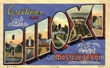 LLT001540 - Greetings From Biloxi, Mississippi, USA Large Letter Town Towns Postcard Postcards