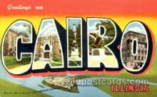 LLT001549 - Greetings From Cairo Illinois, USA Large Letter Town Towns Postcard Postcards