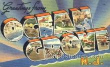 LLT001552 - Greetings From Ocean Grove, New Jersey, USA Large Letter Town Towns Postcard Postcards