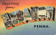LLT001563 - Greetings From Lebanon, Penna, USA Large Letter Town Towns Postcard Postcards
