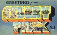 LLT001564 - Greetings From Asbury Park, New Jersy, USA Large Letter Town Towns Postcard Postcards