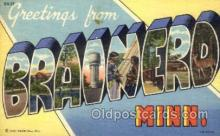 LLT001575 - Greetings From Brainero, Minnisota, USA Large Letter Town Towns Postcard Postcards