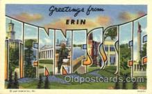 LLT001580 - Greetings From Erin, Tennessee, USA Large Letter Town Towns Postcard Postcards