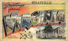 LLT001582 - Greetings From Hillsville, Virginia, USA Large Letter Town Towns Postcard Postcards
