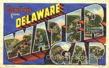 LLT001586 - Greetings From Delaware Water Gap, USA Large Letter Town Towns Postcard Postcards