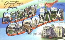 LLT001589 - Greetings From North Carolina, USA Large Letter Town Towns Postcard Postcards