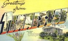 LLT001590 - Greetings From Tennessee, USA Large Letter Town Towns Postcard Postcards