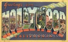 LLT001595 - Greetings From Hollywood, California, USA Large Letter Town Towns Postcard Postcards