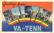 LLT001597 - Greetings From Bristol, Virginia - Tennessee, USA Large Letter Town Towns Postcard Postcards