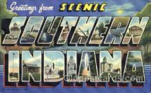 LLT001617 - Greetings From Southern Indiana, USA Large Letter Town Towns Postcard Postcards