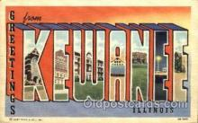 LLT001619 - Greetings From Kewanee, Illinois,  USA Large Letter Town Towns Postcard Postcards