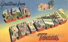LLT001620 - Greetings From San Antonio, Texas Large Letter Town Towns Postcard Postcards