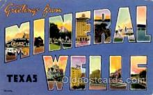 LLT001625 - Greetings From Mineral Wells, Texas, USA Large Letter Town Towns Postcard Postcards