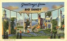 LLT001626 - Greetings From Big Sandy, Tennessee, USA Large Letter Town Towns Postcard Postcards