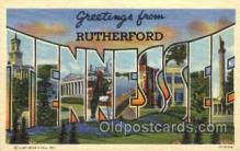 LLT001627 - Greetings From Rutherford, Tennessee, USA Large Letter Town Towns Postcard Postcards