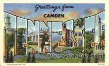 LLT001629 - Greetings From Camden, Tennessee, USA Large Letter Town Towns Postcard Postcards