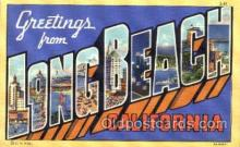 LLT001632 - Greetings From Long Beach, California, USA Large Letter Town Towns Postcard Postcards
