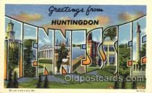 LLT001633 - Greetings From Huntingdon, Tennessee, USA Large Letter Town Towns Postcard Postcards