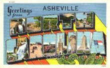 LLT001639 - Greetings From Asheville, North Carolina, USA Large Letter Town Towns Postcard Postcards