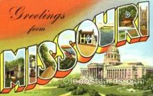 LLT001643 - Greetings From Missouri, USA Large Letter Town Towns Postcard Postcards