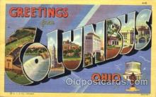 LLT001649 - Greetings From Columbus, Ohio, USA Large Letter Town Towns Postcard Postcards
