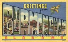 LLT001656 - Greetings From Birmingham, Alabama, USA Large Letter Town Towns Postcard Postcards