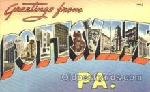 LLT001657 - Greetings From Pottville, Pennsylvania, USA Large Letter Town Towns Postcard Postcards