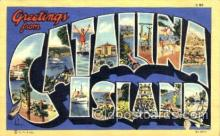 LLT001659 - Greetings From Catalina, Island, USA Large Letter Town Towns Postcard Postcards