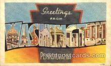 LLT001661 - Greetings From Washington, Pennsylvania, USA Large Letter Town Towns Postcard Postcards