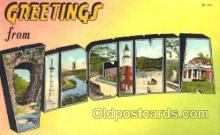 LLT001663 - Greetings From Virginia, USA Large Letter Town Towns Postcard Postcards