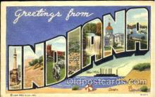 LLT001665 - Greetings From Indiana, USA Large Letter Town Towns Postcard Postcards