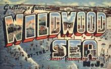 LLT001669 - Greetings From Wildwood By The Sea, New Jersey, USA Large Letter Town Towns Postcard Postcards