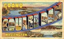 LLT001671 - Greetings From Grand Coulee Dam, Washington, USA Large Letter Town Towns Postcard Postcards