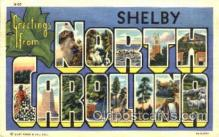LLT001674 - Greetings From Shelby, North Carolina, USA Large Letter Town Towns Postcard Postcards