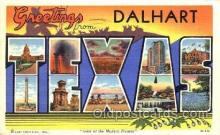 LLT001676 - Greetings From Dalhart Texas, USA Large Letter Town Towns Postcard Postcards