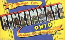 LLT001690 - Greetings From Cincinnati, Ohio, USA Large Letter Town Towns Postcard Postcards