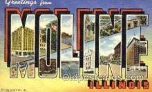 LLT001694 - Greetings From Moline, Illinois, USA Large Letter Town Towns Postcard Postcards