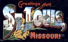 LLT001697 - Greetings From St. Louis, Missouri, USA Large Letter Town Towns Postcard Postcards