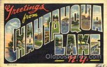 LLT001708 - Greetings From Chautauqua lake, New York, USA Large Letter Town Towns Postcard Postcards