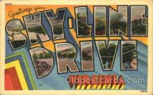 LLT001714 - Greetings From Sky-Line Drive, Virginia, USA Large Letter Town Towns Postcard Postcards
