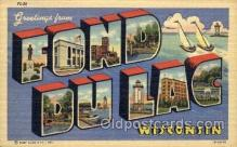 LLT001715 - Greetings From Fond Du Lac, Wisconsin, USA Large Letter Town Towns Postcard Postcards
