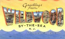 LLT001720 - Greetings From Wildwood By The Sea, New Jersey, USA Large Letter Town Towns Postcard Postcards
