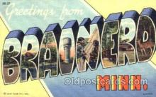 LLT001731 - Greetings From Brainerd, Minnisota, USA Large Letter Town Towns Postcard Postcards