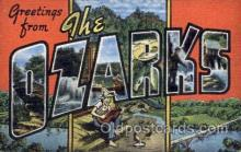 LLT001735 - Greetings From The Ozarks Large Letter Town Towns Postcard Postcards