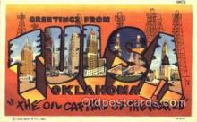 LLT001739 - Greetings From Tulsa, Oklahoma, USA Large Letter Town Towns Postcard Postcards